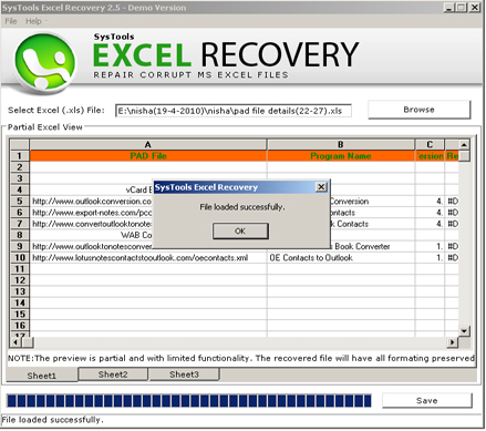 MS 2010 Excel Recovery Software