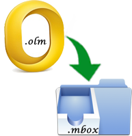 migrate emails from olm to mbox