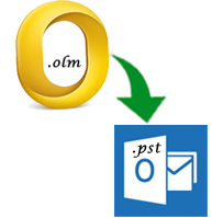 migrate emails of olm in pst