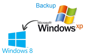 Open Windows XP Backup in Windows 8
