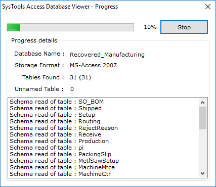Process of Loading MDB Files