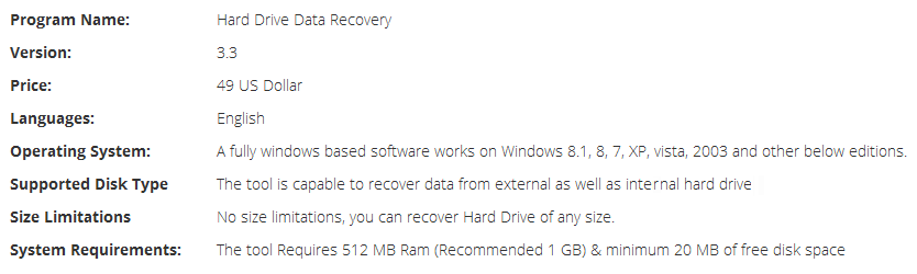 Hard Drive Recovery Brief Information