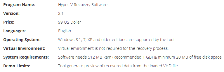 HDD Recovery of Virtual Machines Tech Brief